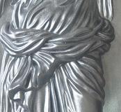 Дева с кувшином серебро