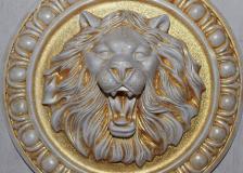 Лев позолота
